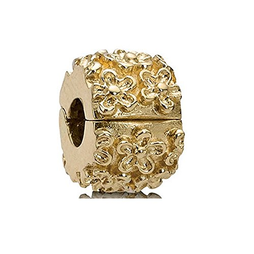PANDORA Clip 14K Golden Flower 750507