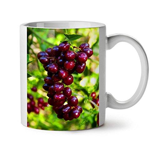 Sweet Red Grapes Tasty Fruits White Tea Coffee Ceramic Mug 11 oz | (Coffee Mugs Grapes)