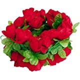Rosa Artificiale Ghirlanda Vite Del Fiore Di Seta Per La Cerimonia Nuziale A Casa La Decorazione Del Giardino - Rosso