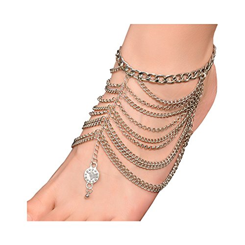 Boosic Multilayer Tassel Anklet Jewelry