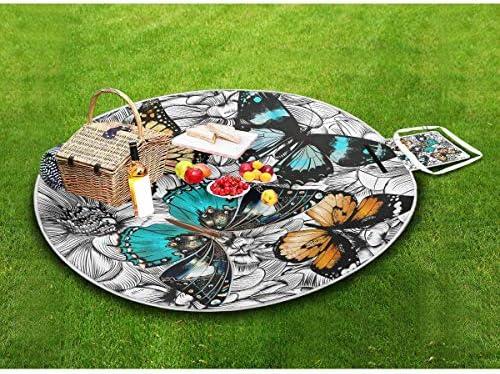 Picnic Farfalle Coperta Grande Impermeabile Handy Mat in Famiglia Camping Sport Sandproof Piano Pieghevole con Extra Lavabile