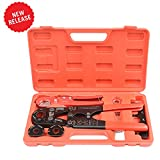 IWISS PEX Pipe Crimping Tool Kit with Jaw Sets 3/8'',1/2'',3/4'',1'' with PEX Pipe Cutters Suitable for Sharkbite, Watts, Apollo and All US F1807 Standards Plumbing