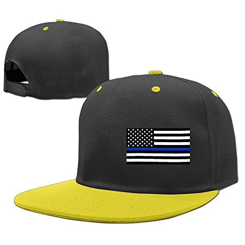 Case Trooper Flag Display (MAKS&&QA/1 Boys Girls Adjustable Fashion Fitted Hats Blue Thin Line Flag Newsboy Hat for Under 13)
