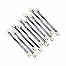 Win-Market 100PCS/Lot wholesale 4 colors connector wires for led strip flexible light 5050 RGB 10mm width