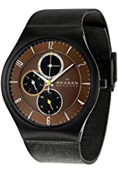 Skagen Men's SK806XLTBD Titanium Brown Dial Watch