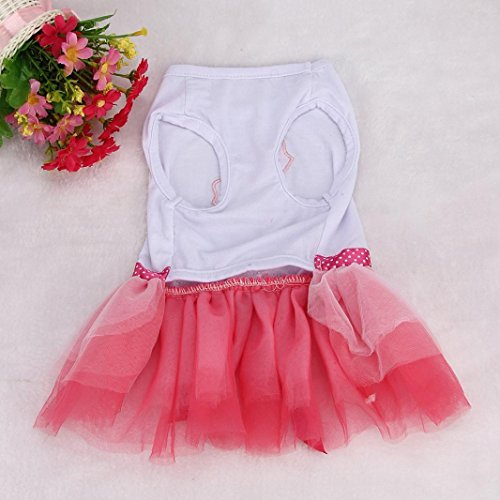 Image of OutTop Girl Dog Dress, Lace Princess Tutu Shirt Clothes for Small Puppy