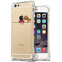 iPhone 6S Plus Case, Ultra Thin Slim Air Cushion TPU Bumper Shockproof Cute Funny Cases Clear with Art Design Pet Dog Cartoon Animal Pattern Protective Cover Girly for Apple iPhone 6 6S Plus 5.5 Inch