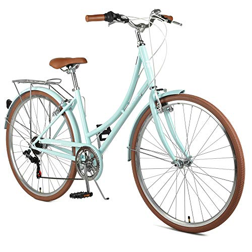 Retrospec Beaumont-7 City Bike Seven Speed Lady's Hybrid Urban Commuter