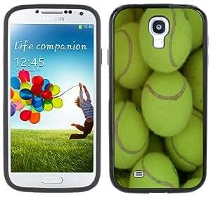 Tennis Balls Handmade Samsung Galaxy S4 Black Bumper Hard Plastic Case