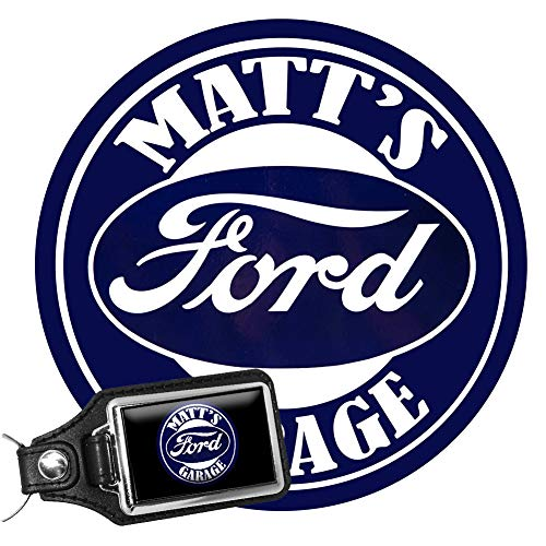 Brotherhood Personalize Ford Vintage Garage Signs - Garage Decor Metal Tin Signs – Metal Garage Sign with A Ford Personalized Key Chain -