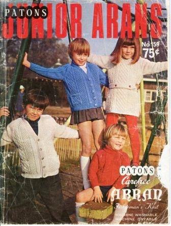 (Vintage Original Knitting Pattern - Paton's Junior Arans (No 159))