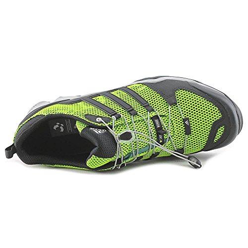 Adidas Men's Terrex Swift R Hiking Sneaker Solar Slime/Black/Vivid Green Shoes