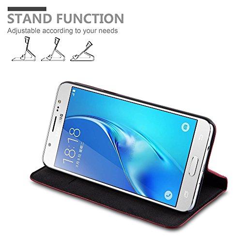 Cadorabo - Funda Book Style Cuero Sintético en Diseño Libro Samsung Galaxy J5 (6) (Modelo 2016)