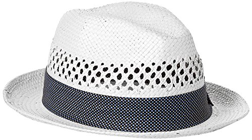 Nick Graham Men's Jorge Vented Straw Fedora, White, L/XL ()