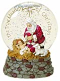 Joseph's Studio by Roman The Kneeling Santa Tri Colored LED Glitterdome