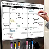 Fridge Magnetic Dry Erase Calendar Whiteboard 2020 Family Memo for Refrigerator White Organizing Planner Board 16.9 Inches X 11.8 Inches