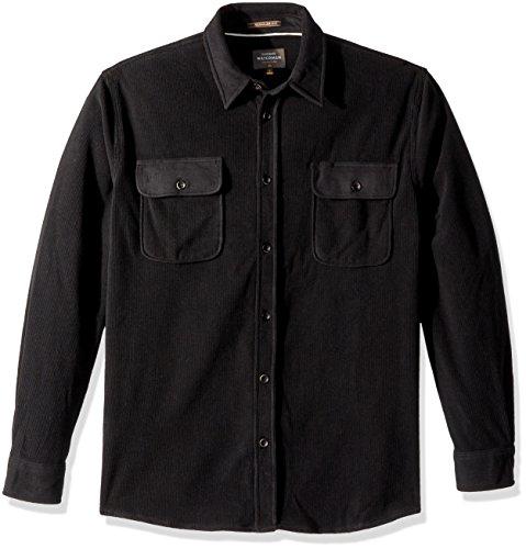 (Quiksilver Waterman Men's River Wild Long Sleeve Polar Fleece Shirt, Black, XXL)