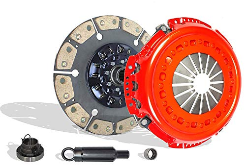 Clutch kit Works With Dodge Ram 2500 Ram 3500 Laramie ST SLT Base Cab Pickup 2001-2005 5.9L L6 DIESEL OHV Turbocharged (Cummis Turbo Diesel; 6 Speed Trans Only; 6-Puck Disc Stage 4)