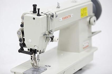 Yamata FY5318 - Máquina de coser con motor de embrague y mesa para ...