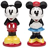 Zak Designs Disney Mickey and Minnie Mouse Ceramic Salt and Pepper Shakers