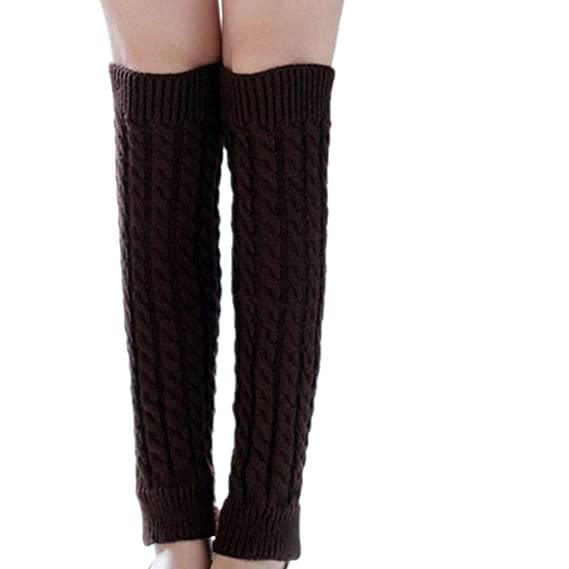 RETUROM Las Mujeres Calientes del Invierno Calentadores de la Pierna de Punto Crochet Calcetines Largos (
