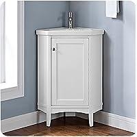 Fairmont Designs 1512-CV26 Shaker Americana 26 Corner Vanity - Polar White