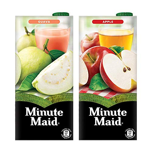 Minute Maid Minute Maid Juice  Guava  amp; Apple Flavour , 1L  Pack of 2 , 2 x 1 L