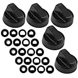 Spares2go Universal Gas Fire Trouser Press & Storage Heater Black Control Knobs Pack Quantity: 5