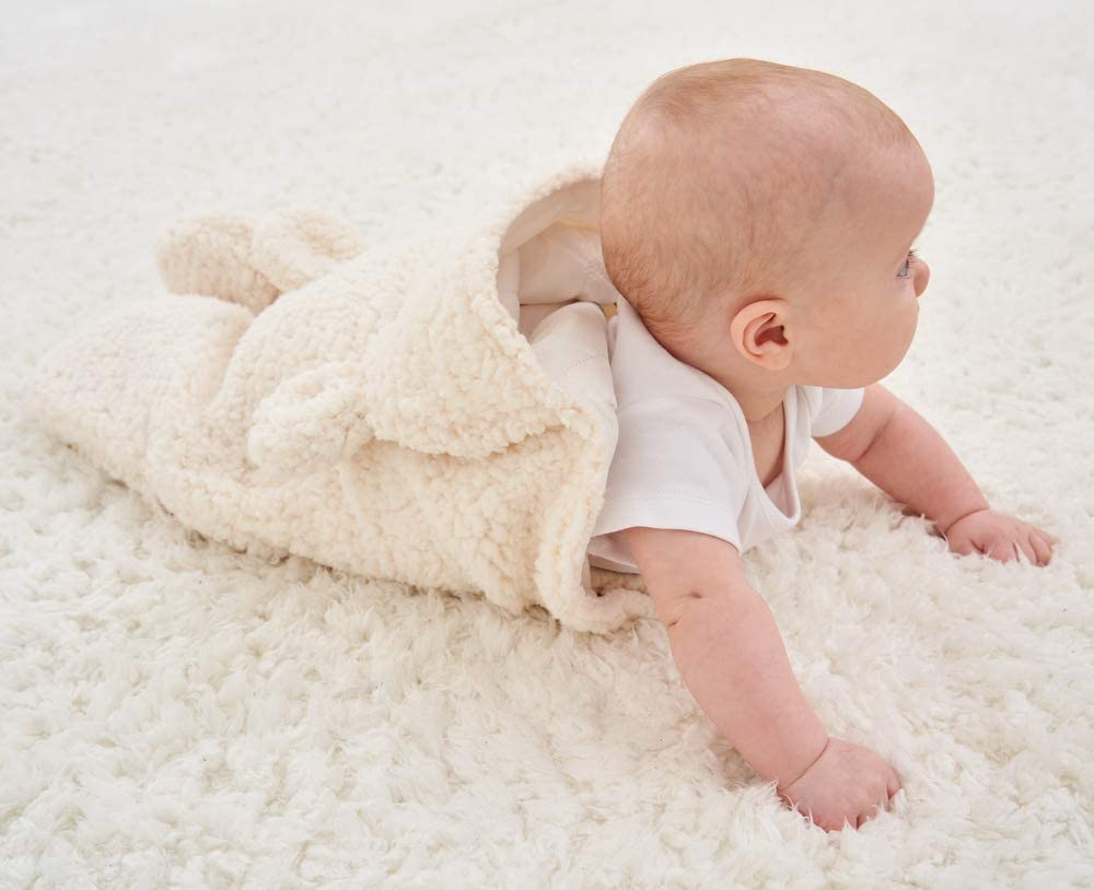 Truedays Newborn Sleeping Wrap Swaddle Baby Cotton Plush Boys Girls Cute Receiving Blanket Sleeping Bag Sleep Sack 0-12 Month