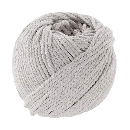 Paracord Planet Natural Colorful Cotton Rope Spools That is Soft to The Touch - 3mm Diameter and 50 Meter Length - Great for DIY Crafting, Handmade Macramé, Bundling, and More