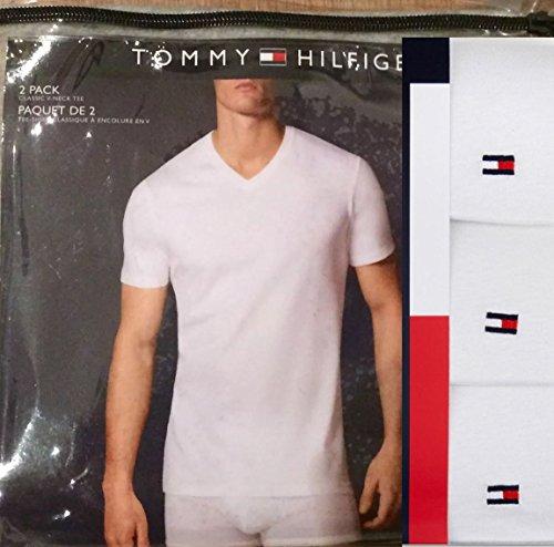 Tommy Hilfiger Herren 3er Pack T-Shirt, Men's V-Neck Cotton T-Shirt, Medium