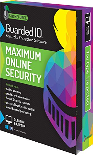 Software : GuardedID Anti-Malware Keystroke Encryption Software | 1 Year, 2 Devices | PC, Mac