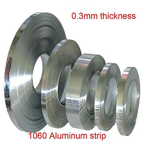 Gimax 0.3mm Thickness 10mm 15mm 20mm 30mm Width 1060 Aluminium Strip Aluminum Tape al roll Aluminum foil Sheet - (Size: 15mm Width)