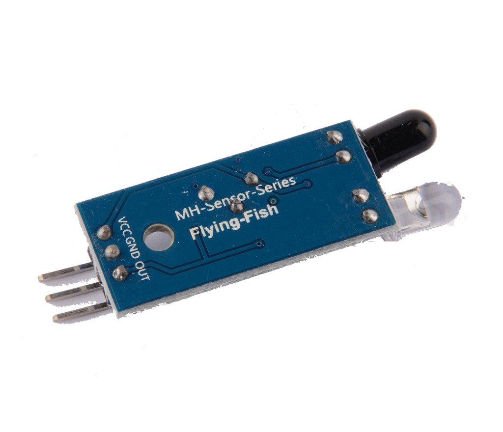 Módulo infrarrojo del sensor de la prevención del obstáculo del IR 5PCS para el alambre elegante de la robusteza 3 del coche de Arduino: Amazon.es: ...