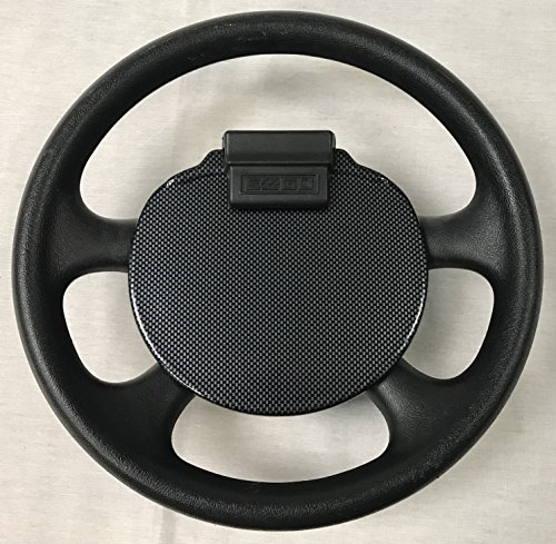 E-Z-Go TXT Steering Wheel Scorecard Cover In Carbon Fiber (WILL ONLY FIT ROUND SCORECARD HOLDER) (WILL NOT FIT RXV CARTS