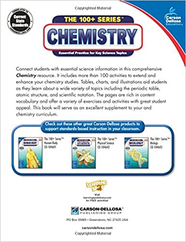 Counting Number worksheets fun chemistry worksheets : Amazon.com: Chemistry (The 100+ Series™) (9781483817095): Carson ...