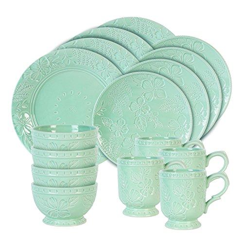 Fitz and Floyd 21-054 English Garden 16 Piece dinnerware set, Blue