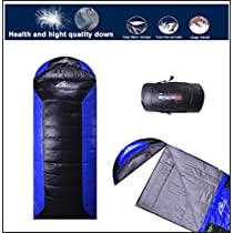 Sleeping Bag Lightweight Down Content 1kg Lowest -8°C for Backpacking Camping-Left