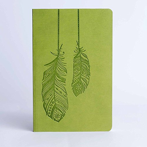 Doodle Quill Diary Notebook – A5, 80GSM, 200 Pages (Green)