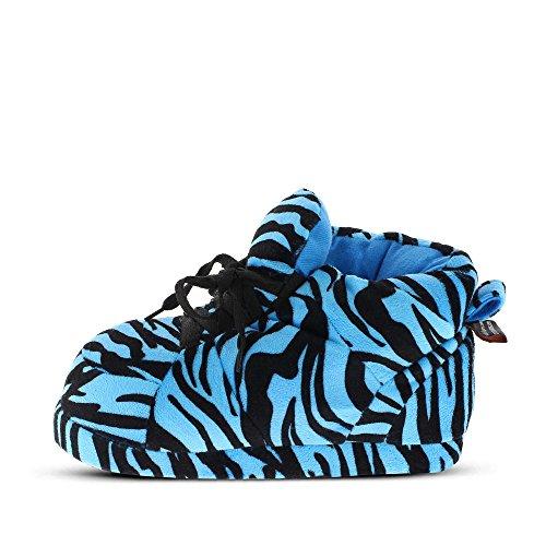 Sleeper'z – Chaussons imprimé tigre bleu – Adulte unisexe - Homme et Femme
