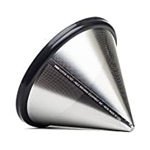 Able Brewing Kone Coffee Filter for Chemex Coffee Maker - stainless steel reu...