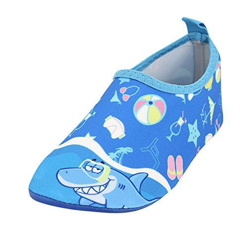 HAPPIShare Toddler Kids Water Shoes Swim Shoes Aqua Socks for Boys Girls Toddlers Barefoot Soft for Pool Beach