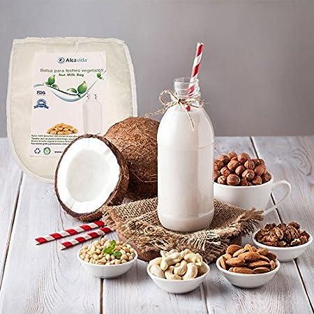 Bolsa para hacer leches vegetales y germinador de Alcavida Maya fina y certificada por la FDA: Amazon.es: Hogar