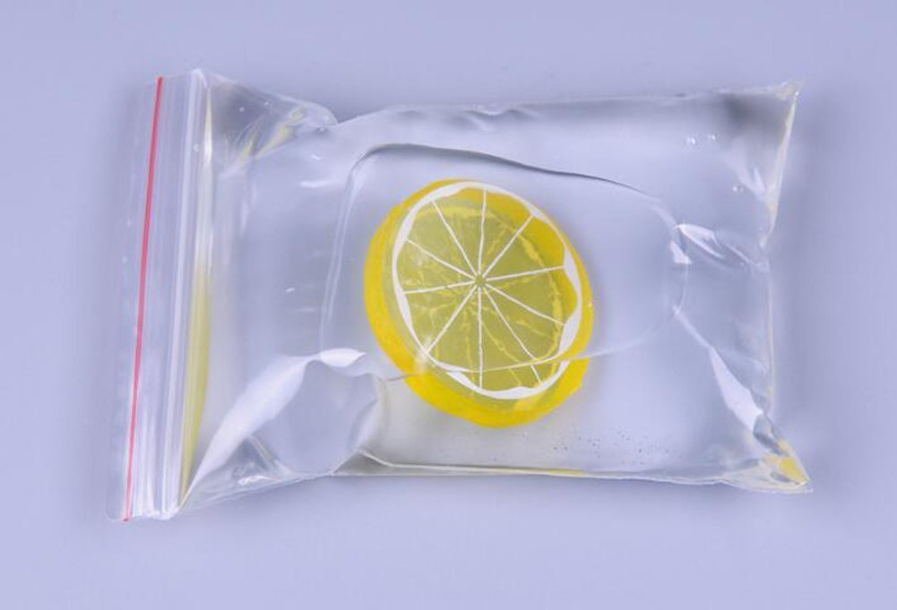 100PCS Clear Plastic Ziplock Bags Self-sealing Poly Bag Treat Bags Favor Storage Bags for Snacks Bakery Cookies Candies Decorative Wrappers 8x12cm