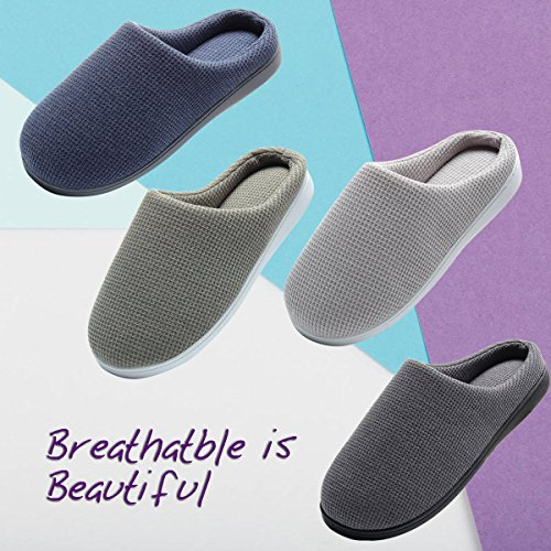 Cozy Spa House Indoor Slippers for Men Warm Lining Clog Slippers Dark Gray L by Harrms (Image #7)
