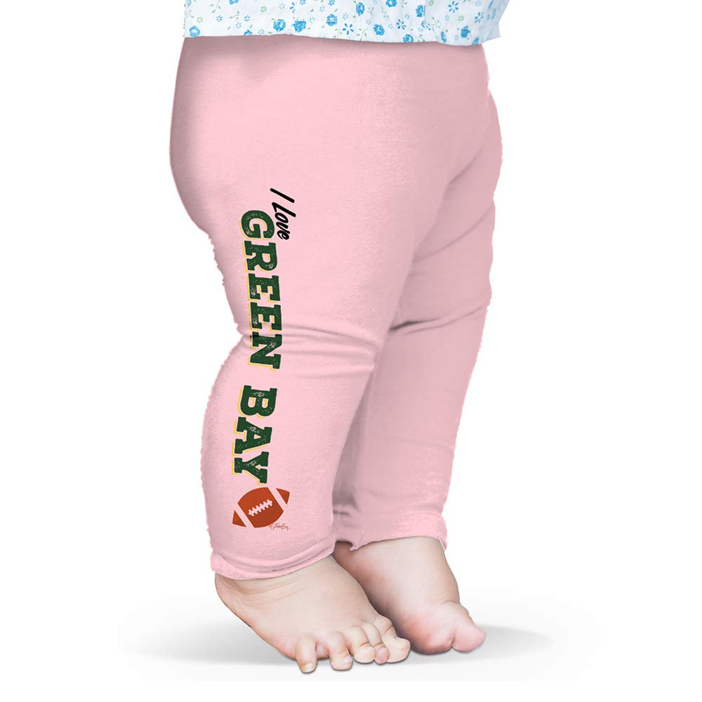 Twisted Envy Baby Pants I Love Green Bay American Football Pink 0-3 Months by TWISTED ENVY