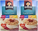 Quaker Oatmeal Fruit & Cream Variety Pack 8-Count Boxes (Pack of 2)