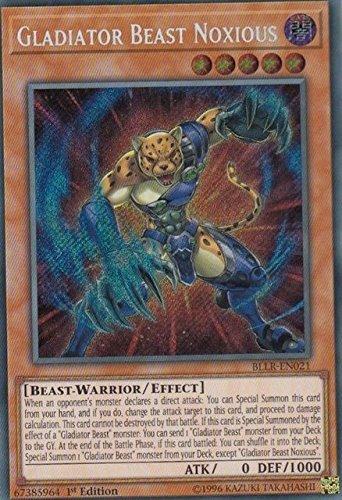 Yu-Gi-Oh! - Gladiator Beast Noxious BLLR-EN021 Secret Rare 1st Edition (Gladiator Card)