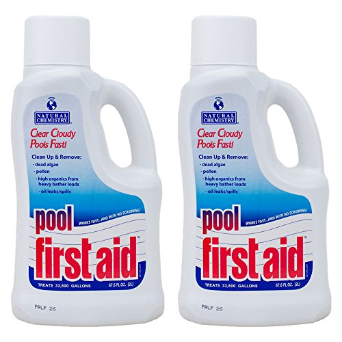 Natural Chemistry 03122-02 Pool First Aid Clears Cloudy Swimming Pool Water, 2-Liters, 2-Pack ()