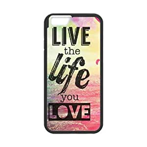"Love the Life You Live DIY Case for Iphone6 Plus 5.5"", Custom Love the Life You Live Case"